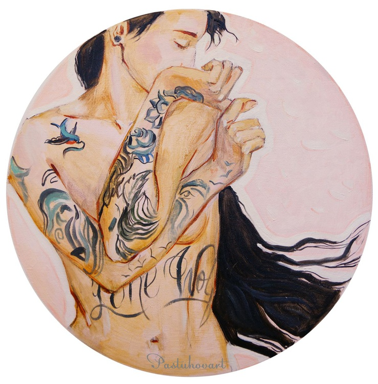 Girl with a tattoo - Image 0