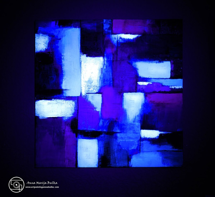 square abstract- GLOW IN THE DARK - Image 0