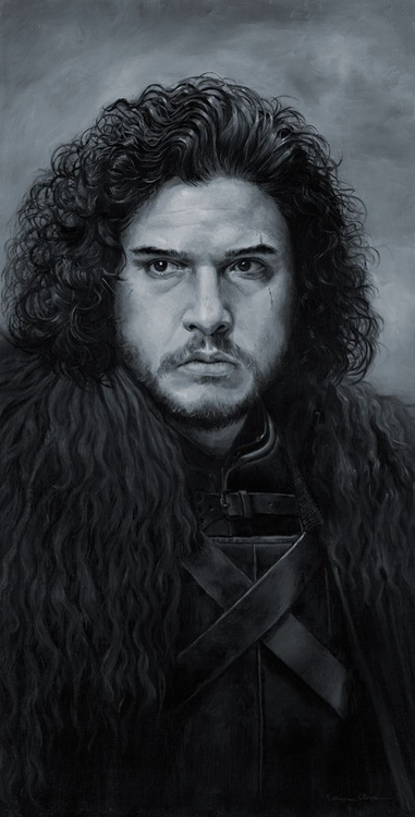 Jon Snow 44x74cm with frame - Image 0