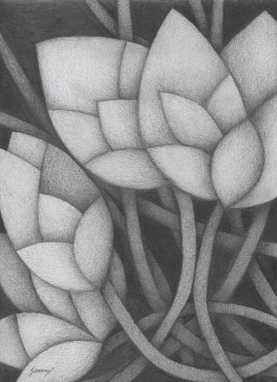 Leaves in grays II - Image 0