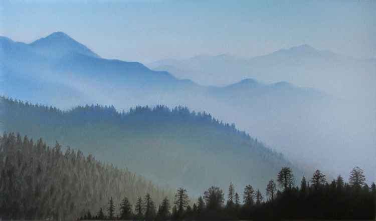 Misty Mountains II (17x30.5cm)