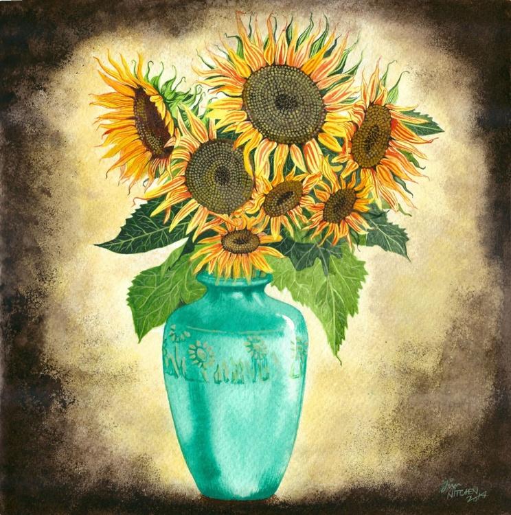 Vase of Sunflowers - Image 0