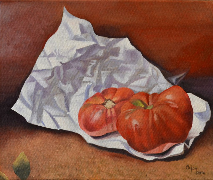TWO RED TOMATOES - Image 0