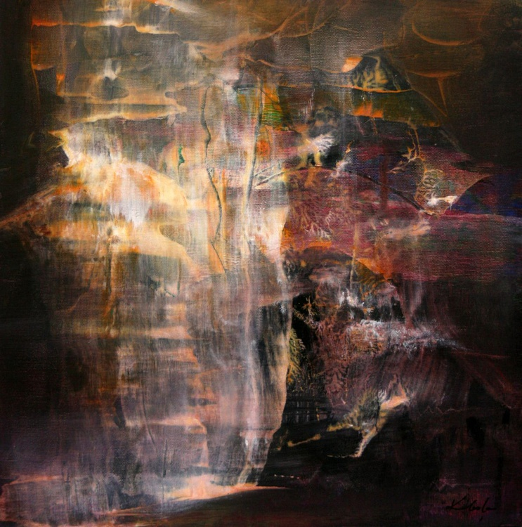 SUBLIME MINDSCAPE SIGNED OVIDIU KLOSKA DIAPHANE COSMIC LIGHT ESCAPE FROM VISCERAL WORLD - Image 0