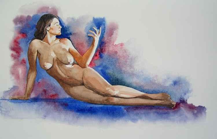 Watercolour Nude 4