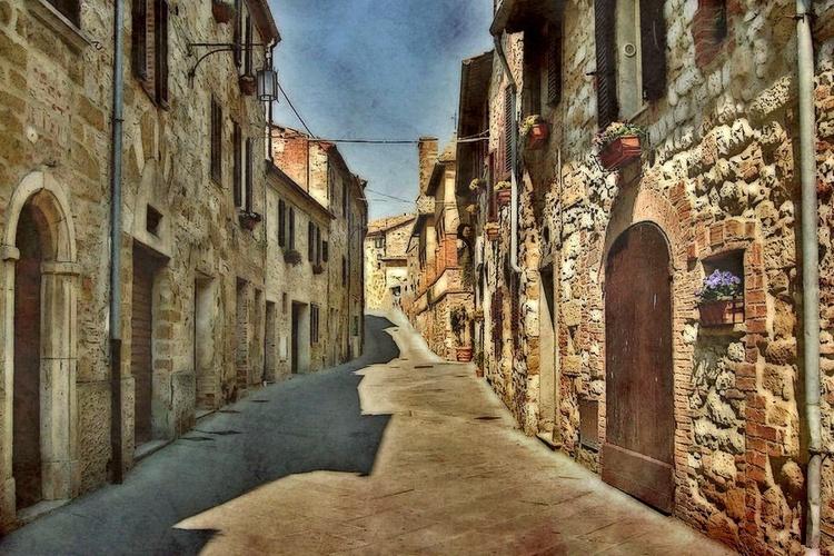 Siesta in Montefollonico - Canvas 75 x 50 cm - Image 0