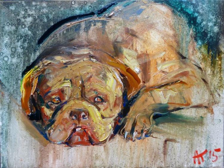 friend, original oil painting 30x40 cm - Image 0