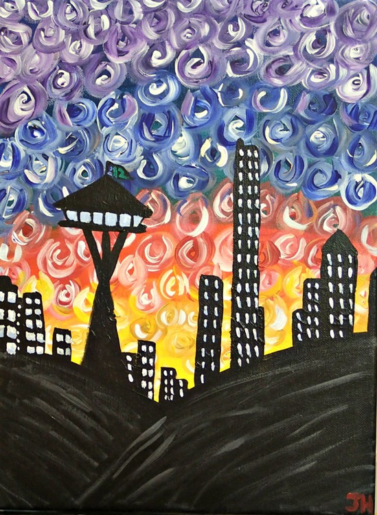Funky Seattle Skyline - Image 0