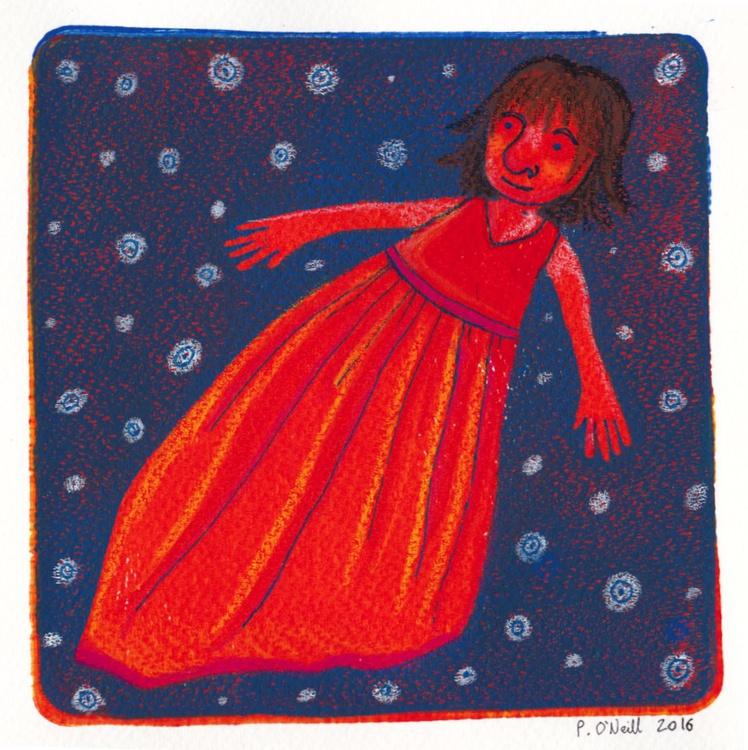 Girl in the Night Sky - Image 0