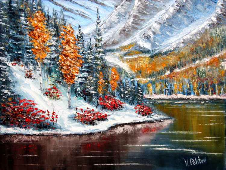 """""""The Flowers in the Snow""""."""