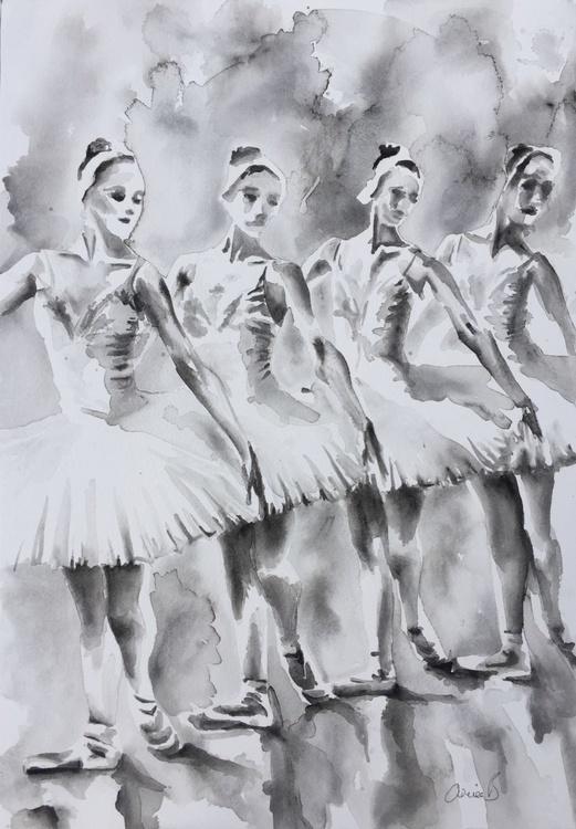 Four Ballerinas - Swan Lake - Image 0