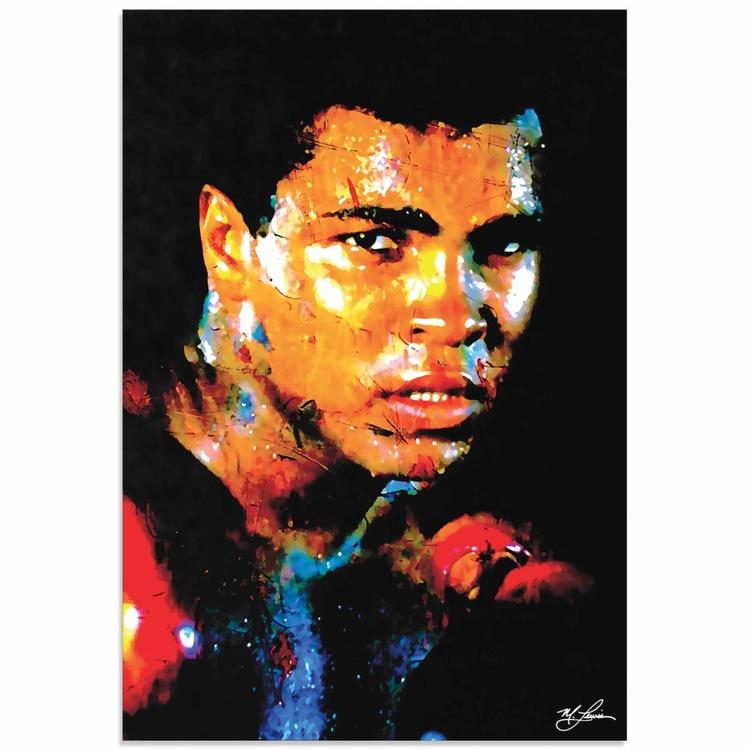 Mark Lewis 'Muhammad Ali Affirmation Realized' Limited Edition Pop Art Print on Metal - Image 0