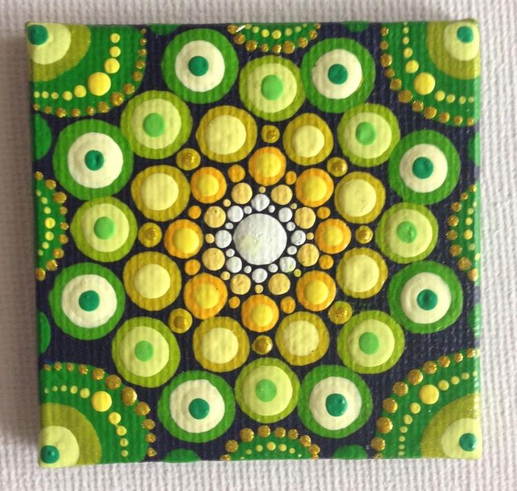 Miniature Dotart Mandala Painting - Image 0