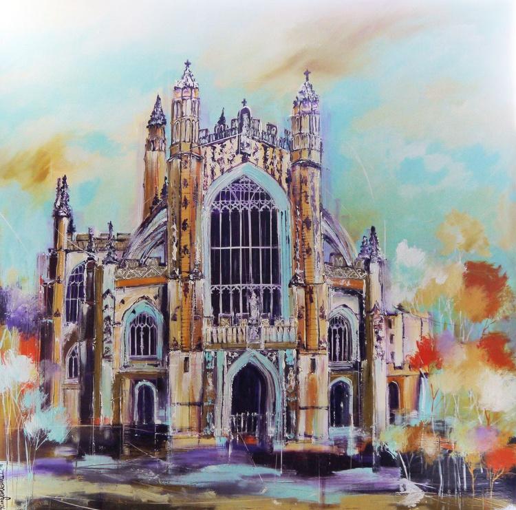 Bath Abbey (Plein Air) - Large 1m x 1m, ready to hang - Image 0