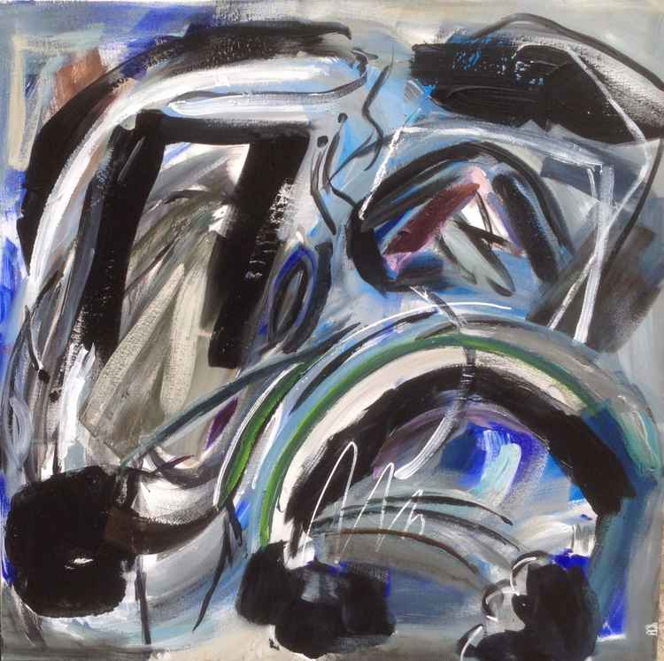Abstract acrylic 100x100