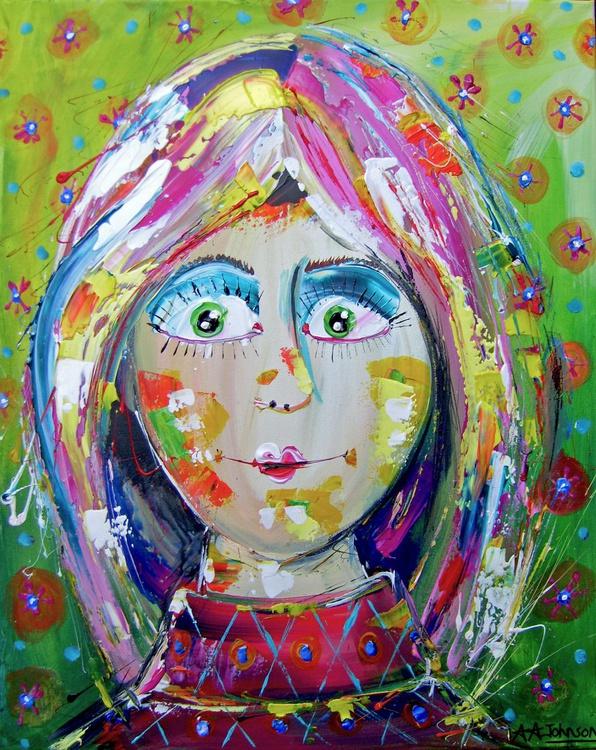 "Whimsical Faces - ""Distant Doris"" - Image 0"