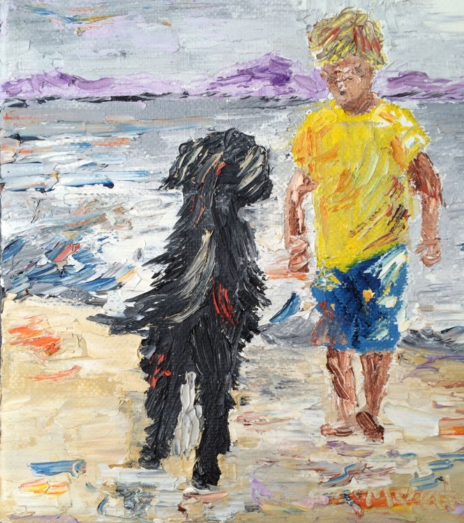 Boy with the dog - Image 0