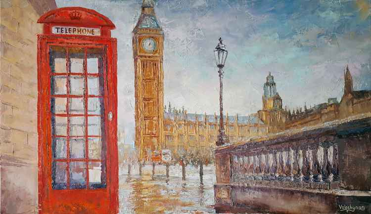 On the street of London (70x40cm)