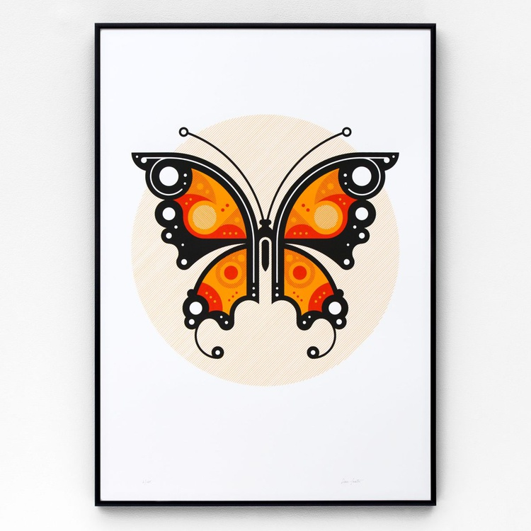 Butterfly #1 A2 limited edition screen print - Image 0