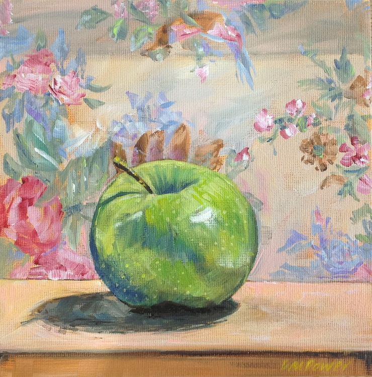 Granny Smith with a vintage background - still life - Image 0