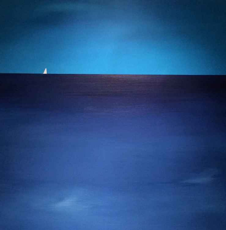 """ deep blue ""Seascape 50x50cm -"
