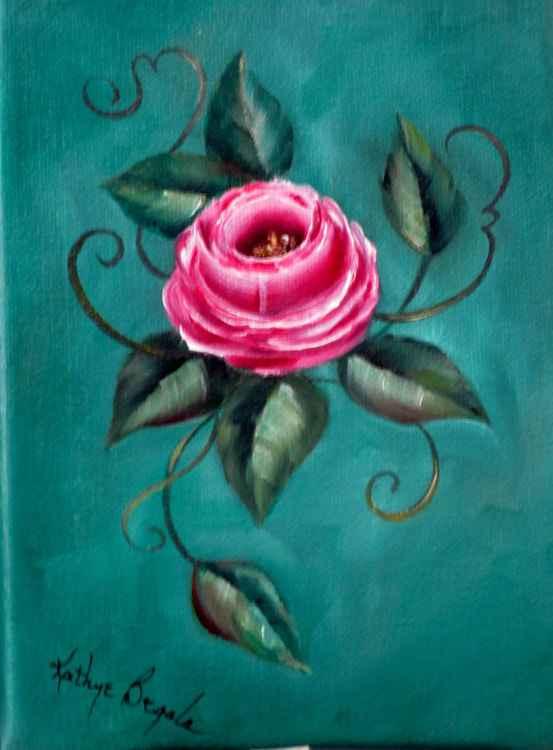Pink & Blue Rose