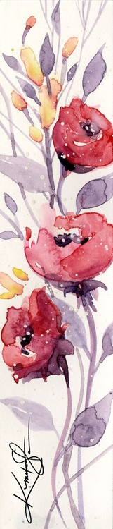 Itsy Bitsy Blossoms 1 - Original Tiny Watercolor - Image 0