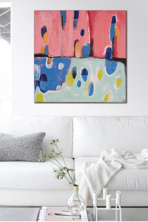 Hello Spring Pink (16-4) - Ready to hang artwork - - Image 0