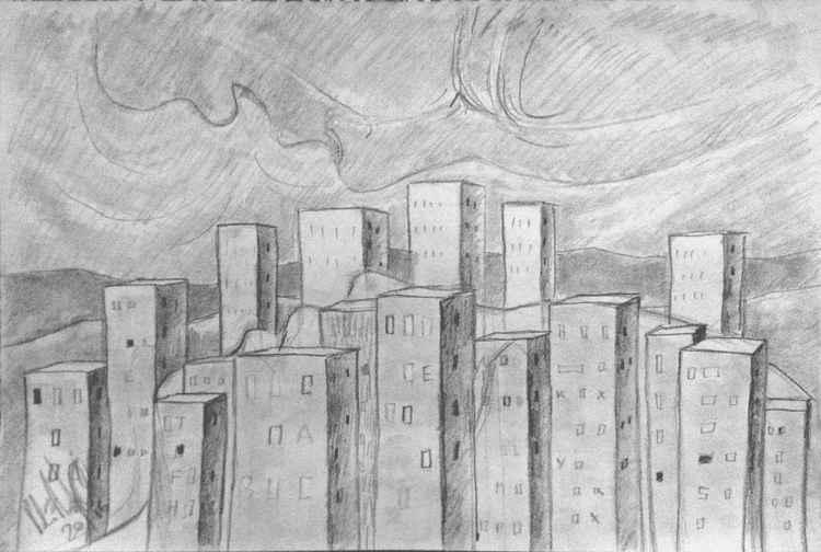 Cityscape sketch 2 -