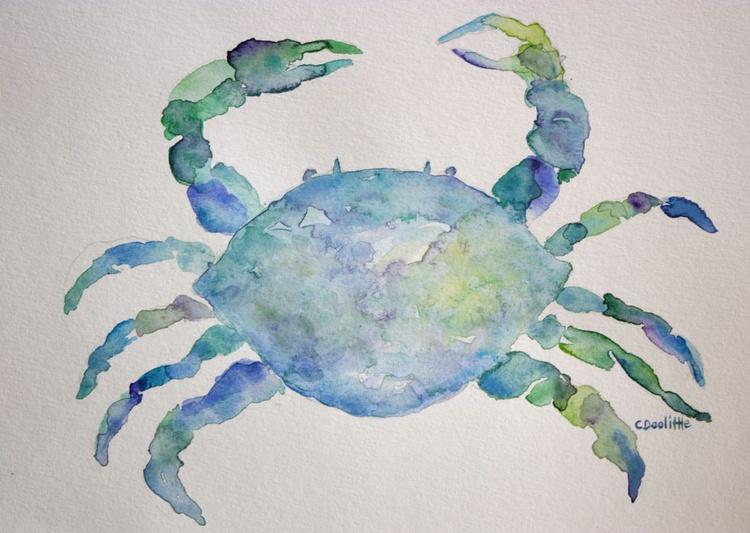 Blue Crab Watercolor - Image 0