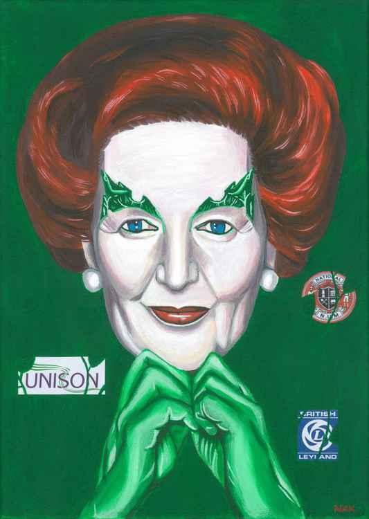 Margaret Thatcher as Poison Ivy -