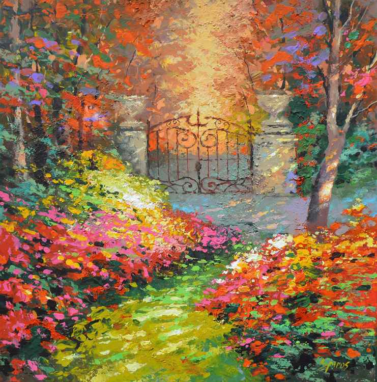 At the gates autumn Park paintings by Dmitry Spiros