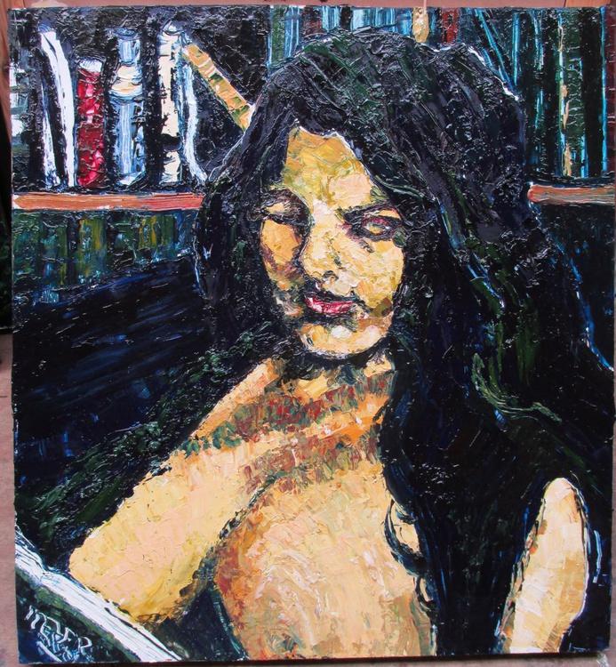 Portrait of the reader, Anne Stephens. - Image 0