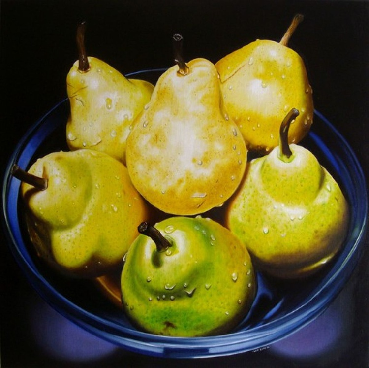 Bowl of pears and drops - Image 0