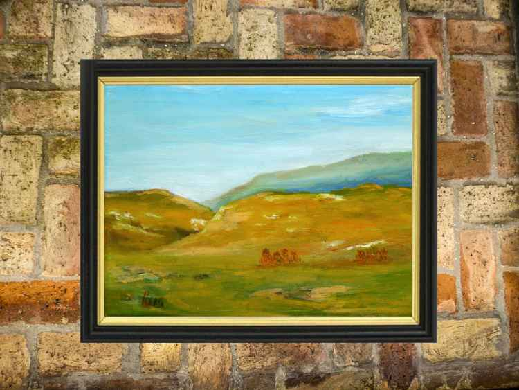 Yellow hills - Ready to hang -