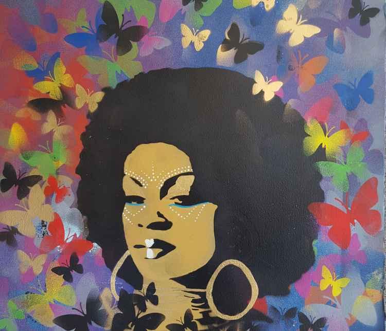 Rainbow Afro -
