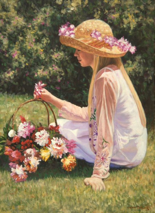 Bree with a Basket of Flowers - Image 0