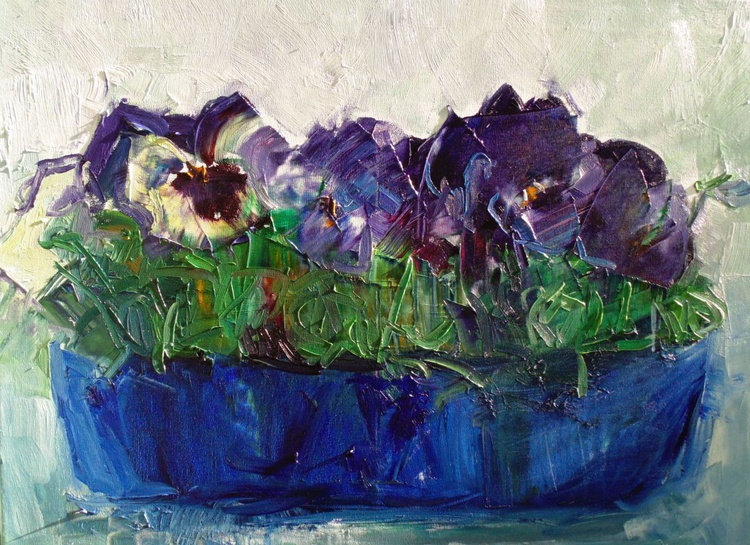 Conversation with pansies - Image 0