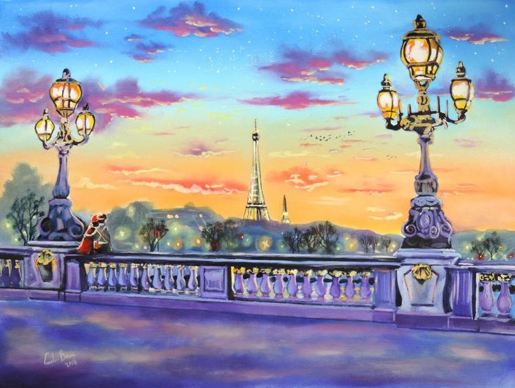Paris painting original painting new art - Image 0