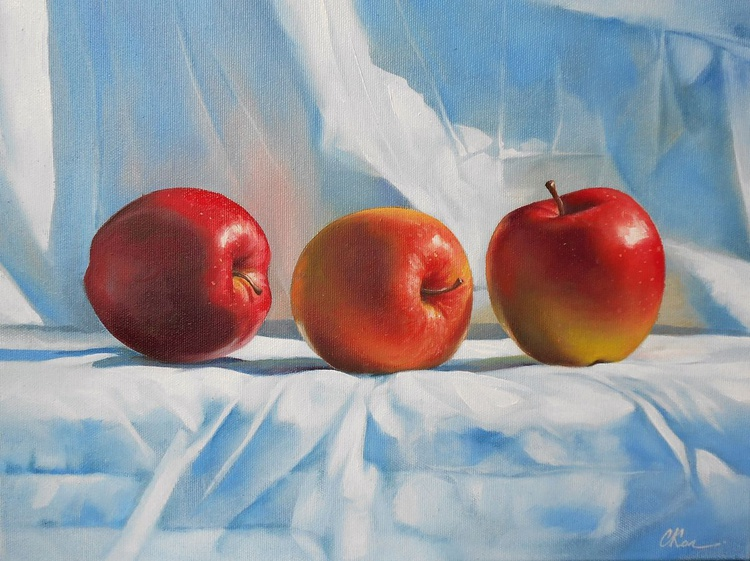 Apples. Still life /Original oil on canvas /Free Shipping - Image 0