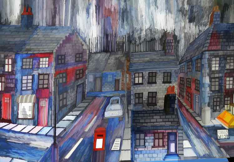 Rainy Night Town -