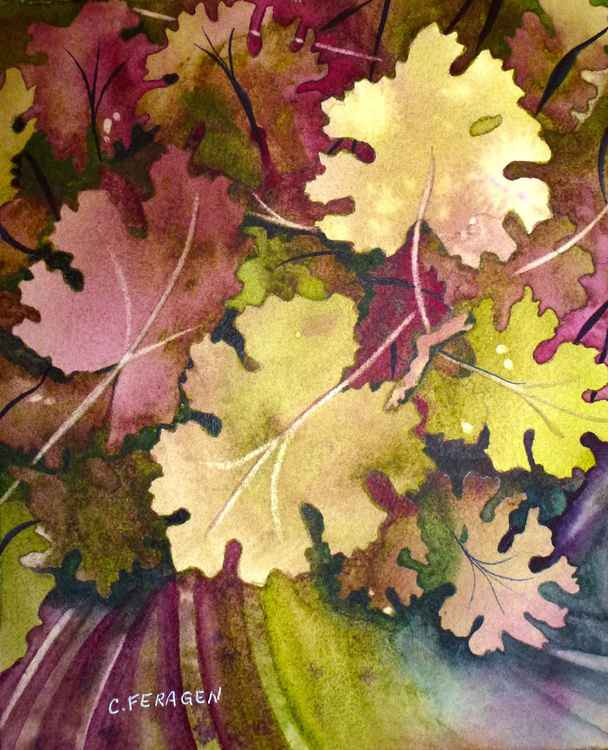 Green and Purple Leaves -