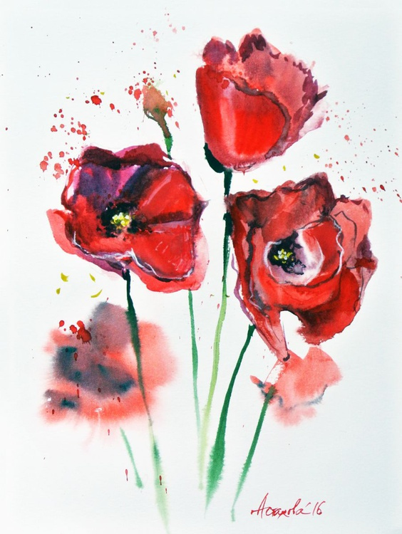 Poppies (Diptych) - Image 0