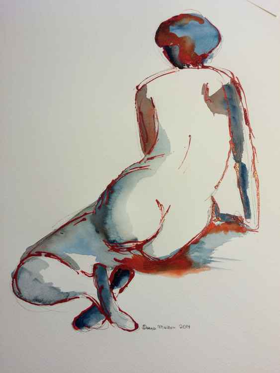 Nude in Red and Blue -