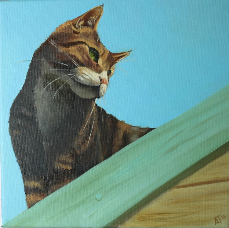 Cat Perched on the Shed - Image 0