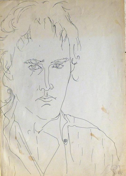 Self-portrait, 30x42 cm - Image 0