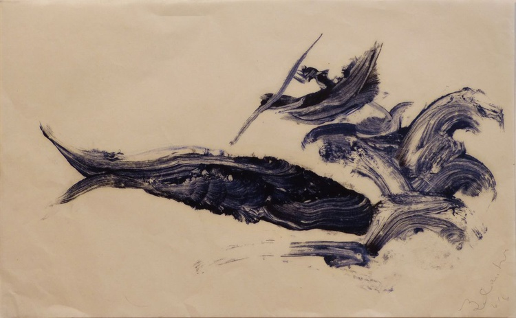 The Whale 5, monoprint on Chinese paper, 53x33cm - Image 0