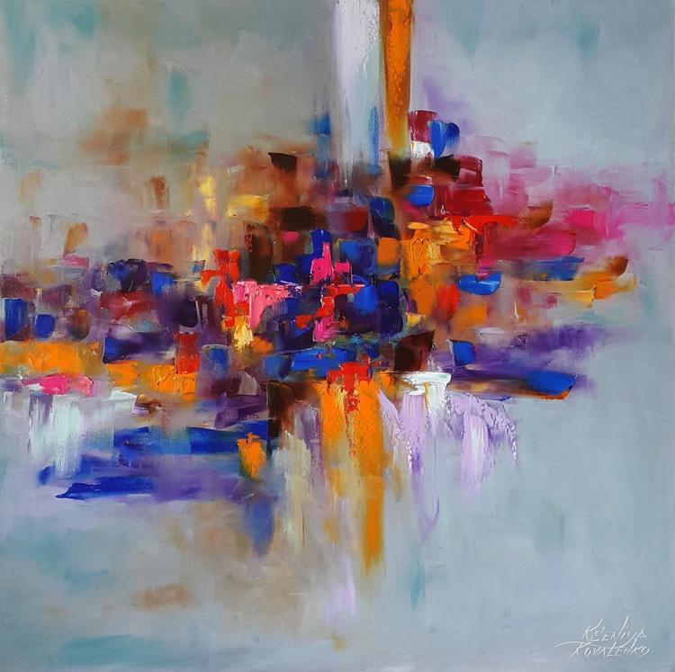 painting *А rainbow of emotions* Оil on canvas 80х80cm - Image 0