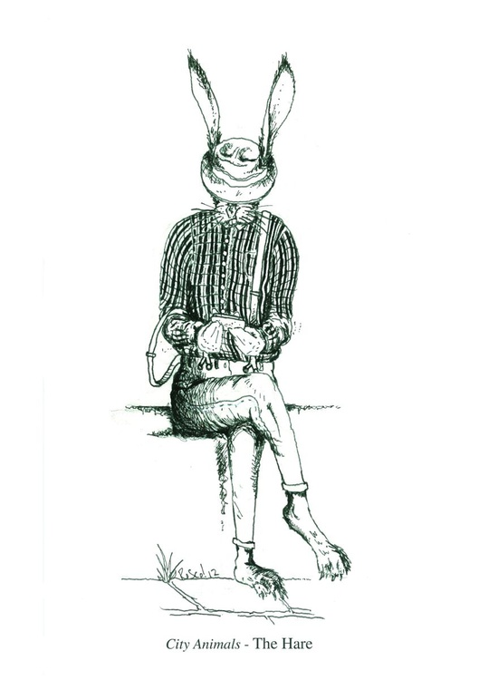City animals  - The Hare - Highest Quality Limited Digital Print - Image 0