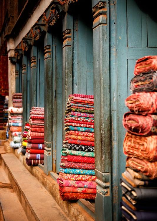Textile Shop, Bhaktapur. (42x59cm) - Image 0